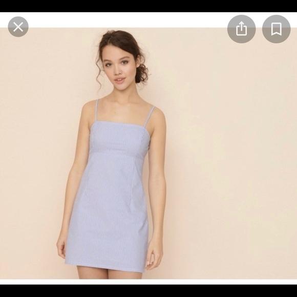 Garage Blue & White striped dress